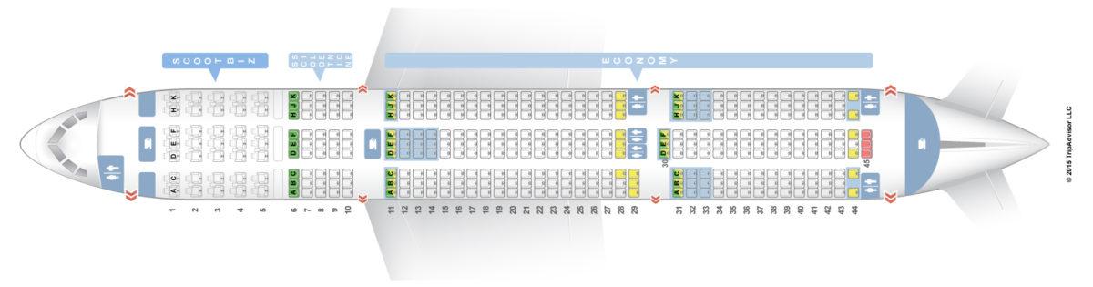 Scoot(スクート)の使用機材と座席表 | 旅するLCC